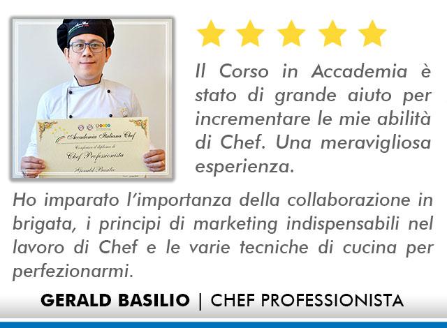 Corso Chef a Milano Opinioni - Basilio