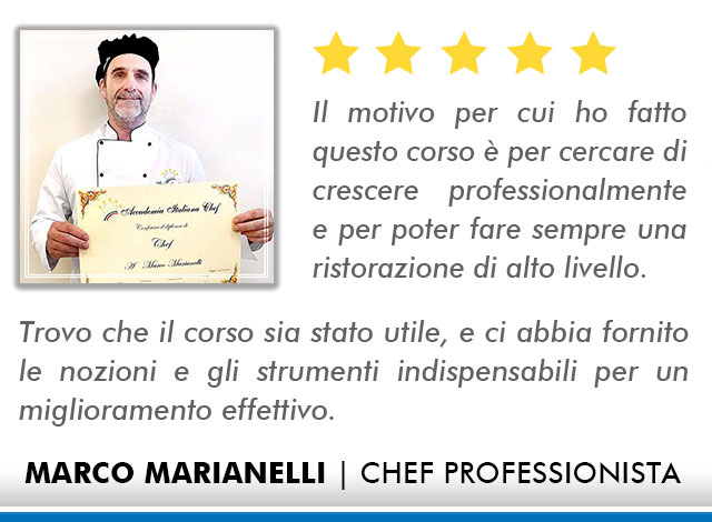 Corso Chef a Milano Opinioni - Marianelli