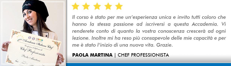 Corso Chef a Milano Opinioni - Martina