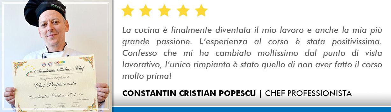 Corso Chef a Milano Opinioni - Popescu