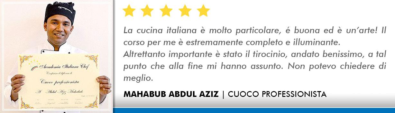 Corso Cuoco a Milano Opinioni - Abdul